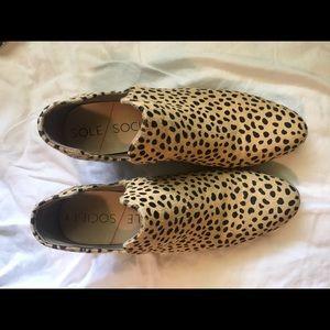 Sole Society Calf Hair Cheetah Print Booties